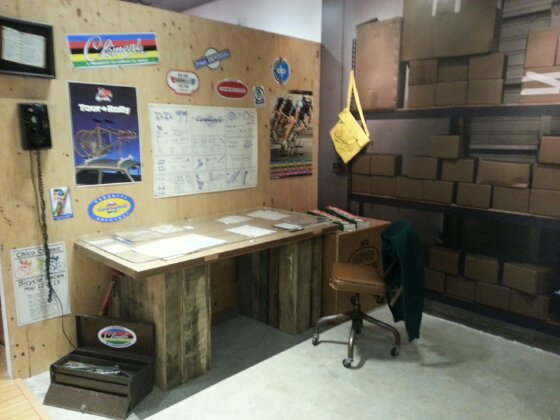 Collection of old Specialized memorabilia