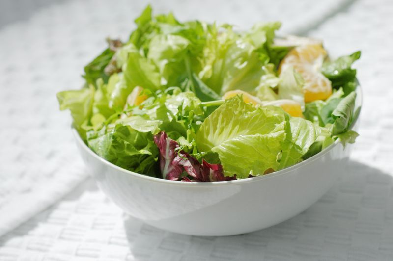 Close-up of a bowl of salad