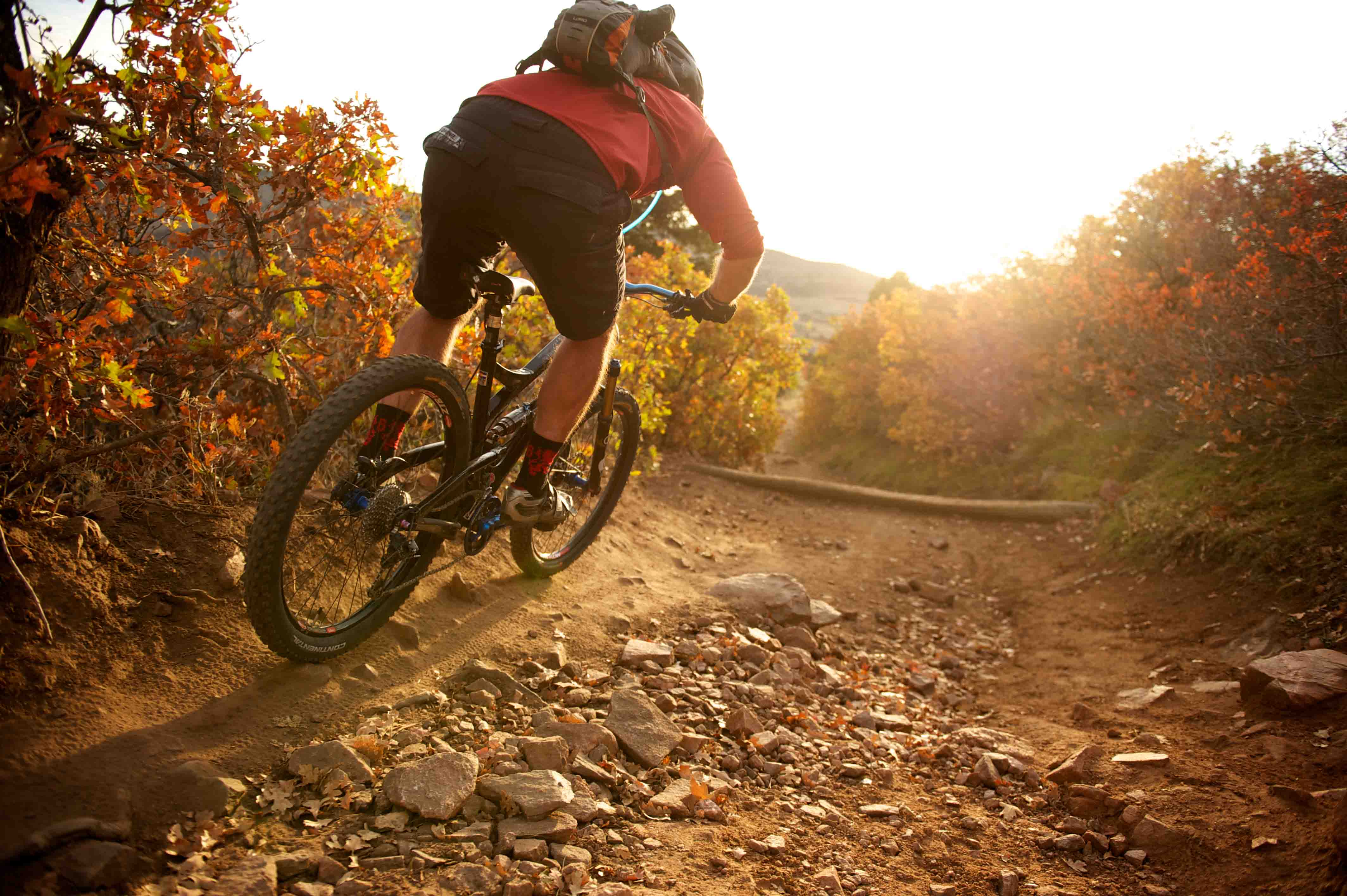 21 OCT 2011:  Mountain biking the trails of Deer Creek in Littleton,CO.